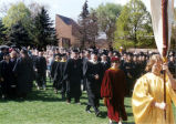 Faculty and staff processional at the 2001 Graduation